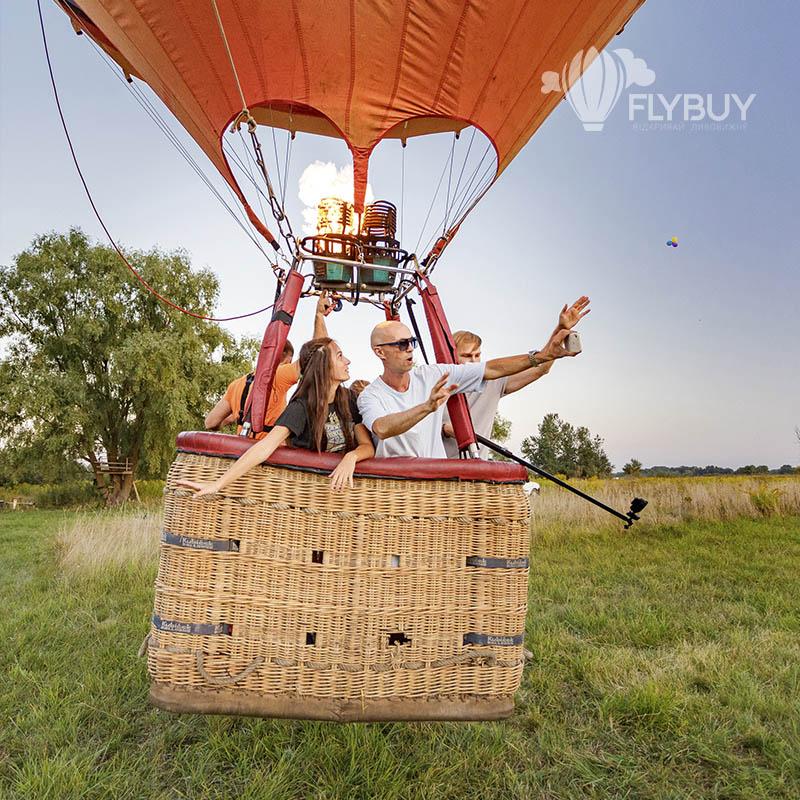 Полет на воздушном шаре в группе под Киевом
