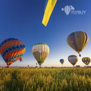 Воздушные шары взлетают под Киевом